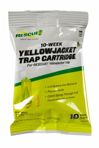 RESCUE! Yellowjacket Trap 10-Week Refill Perspective: front