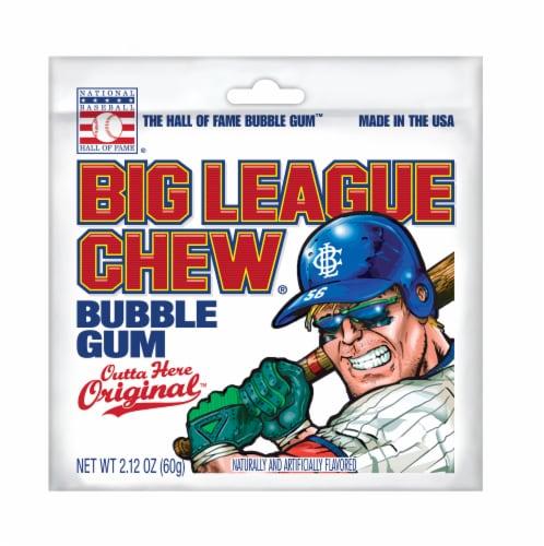 Big League Chew Outta Here Original Bubble Gum Perspective: front