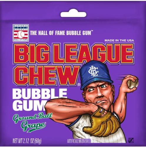 Big League Chew Ground Ball Grape Bubble Gum Perspective: front