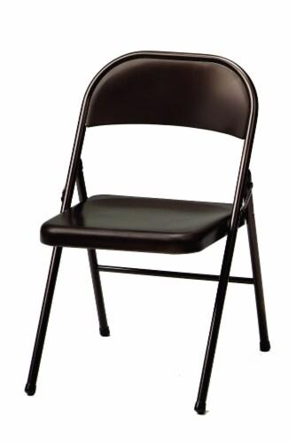 Sudden Comfort All Steel Folding Chair - Cinnabar Perspective: front