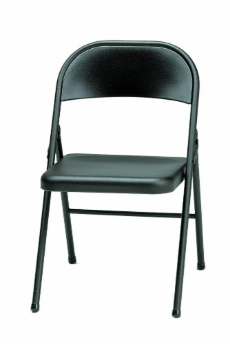 Sudden Comfort Steel Folding Chair - Black Lace Perspective: front