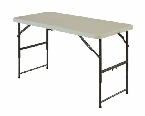 Sudden Solution Utility Fold-In-Half Blow Mold Table - Cream Perspective: front
