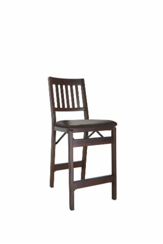 Stakmore Wood Folding Counter Stool - Espresso Perspective: front