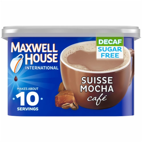 Maxwell House International Café Suisse Mocha Decaf Sugar Free Coffee Perspective: front