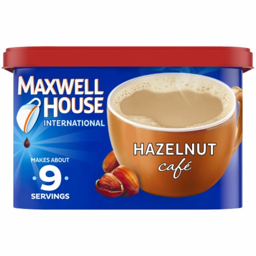 Maxwell House International Hazelnut Café-Style Beverage Mix Perspective: front