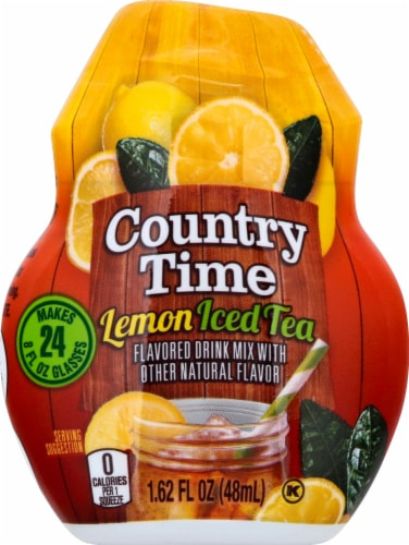 Country Time Lemon Iced Tea Flavored Drink Mix Perspective: front