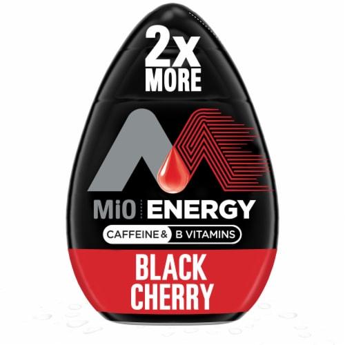 Mio Energy Black Cherry Liquid Water Enhancer Perspective: front