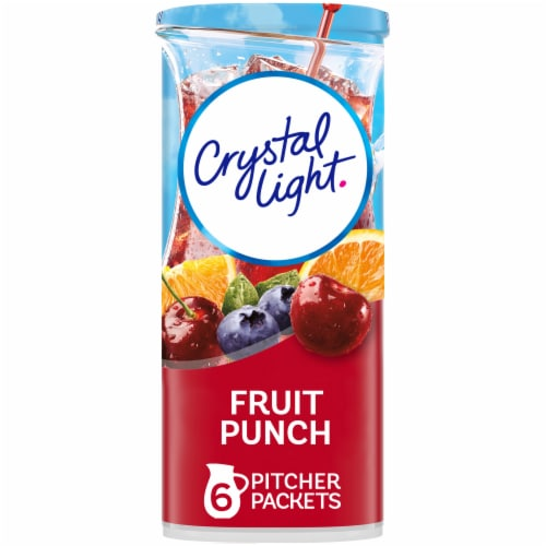 Crystal Light Fruit Punch Powdered Drink Mix Perspective: front
