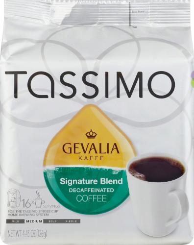 Tassimo Gevalia Kaffe Signature Blend Medium Roast Decaffeinated Coffee Discs Perspective: front