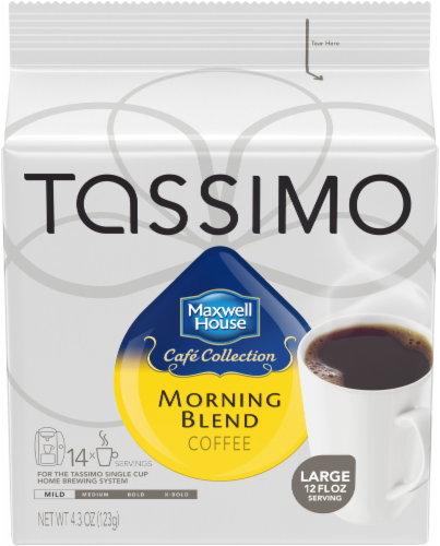 Tassimo Maxwell House Morning Blend Mild Roast Coffee T Discs Perspective: front
