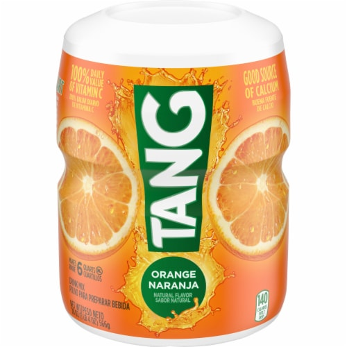 Tang Orange Powdered Drink Mix Perspective: front