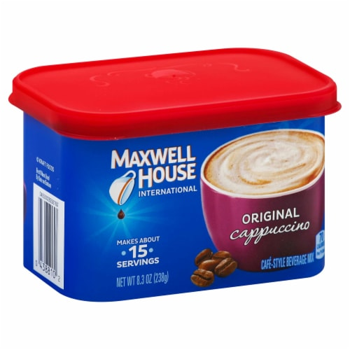 Maxwell House Original Cappuccino Cafe Style Instant Beverage Mix, 8.3 Ounce -- 8 per case. Perspective: front