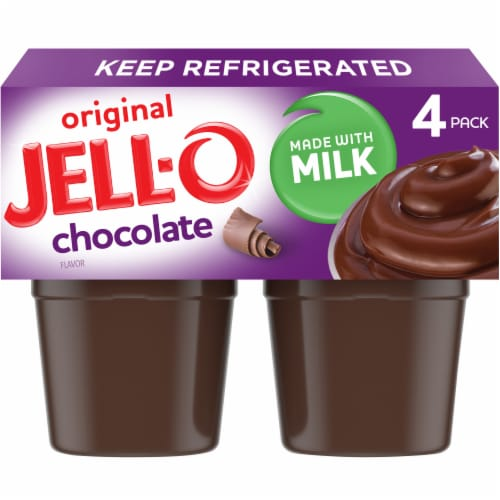 Jell-O Chocolate Pudding Snacks Perspective: front