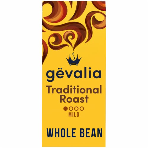 Gevalia Traditional Mild Roast Whole Bean Coffee Perspective: front