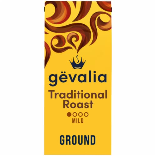 Gevalia Traditional Mild Roast Ground Coffee Perspective: front