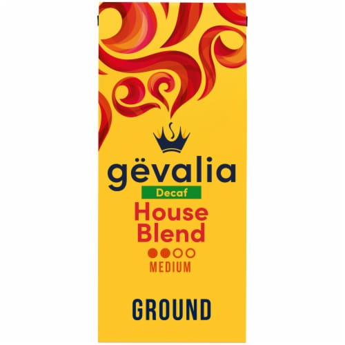 Gevalia Decaf House Blend Medium Roast Ground Coffee Perspective: front
