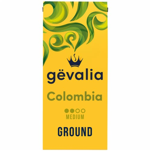 Gevalia Colombia Medium Roast Ground Coffee Perspective: front