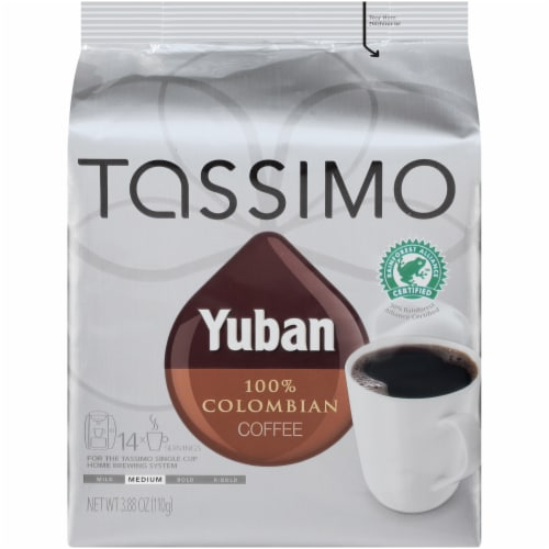 Tassimo Yuban 100% Colombian Coffee T Discs Perspective: front