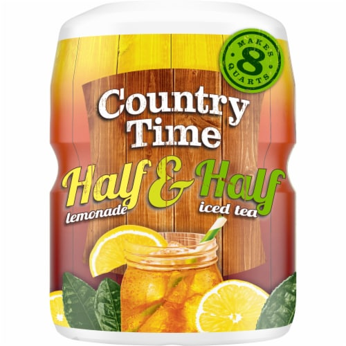Country Time Half Lemonade & Half Iced Tea Drink Mix Perspective: front
