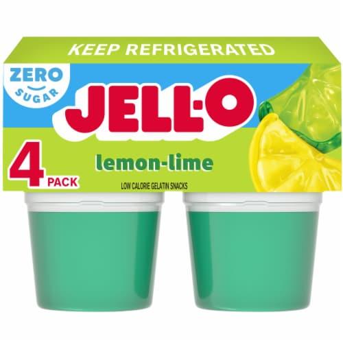 Jell-O® Sugar Free Lemon-Lime Gelatin Snacks Perspective: front