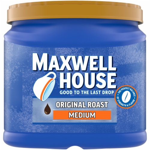 Maxwell House Original Roast Medium Ground Coffee Perspective: front