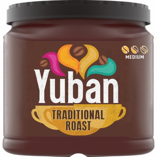 Yuban Traditional Medium Roast Ground Coffee Perspective: front