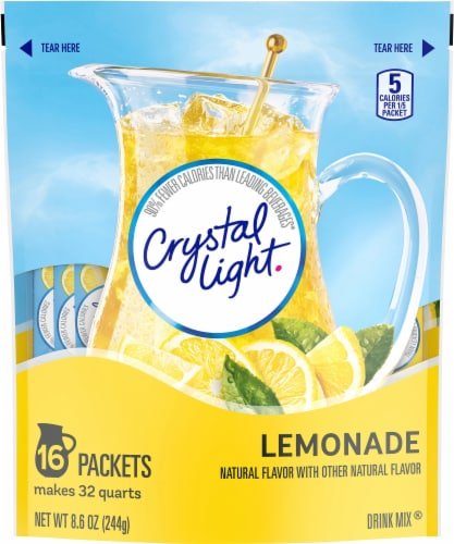 Crystal Light Lemonade Pitcher Packs Perspective: front