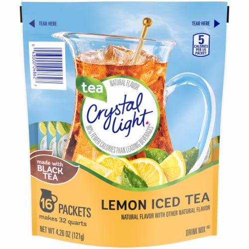 Crystal Light Lemon Iced Tea Drink Mix Perspective: front