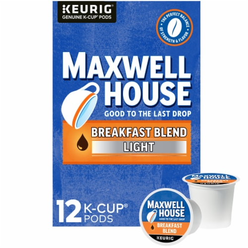 Maxwell House Breakfast Light Roast Blend Coffee K-Cup Pods Perspective: front
