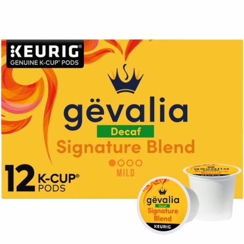 Gevalia Decaf Signature Blend Mild Roast Coffee K-Cup Pods Perspective: front