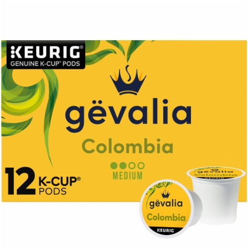 Gevalia Colombian Medium Roast Coffee K-Cup Pods Perspective: front