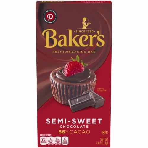 Baker's Premium Semi-Sweet Chocolate Baking Bar Perspective: front