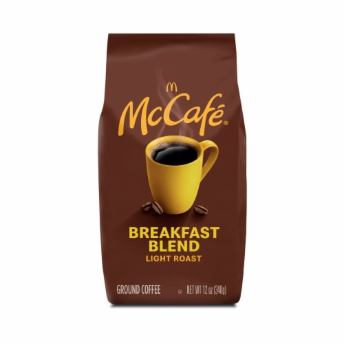 McCafe Breakfast Blend Light Roast Ground Coffee Perspective: front