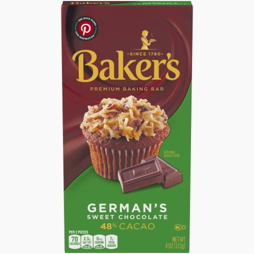 Baker's German's Sweet Chocolate Baking Bar Perspective: front