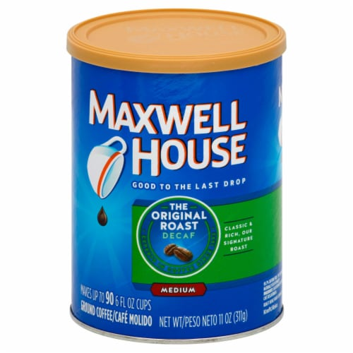 Maxwell House Original Decaffeinated Coffee, 11 Ounce -- 6 per case. Perspective: front