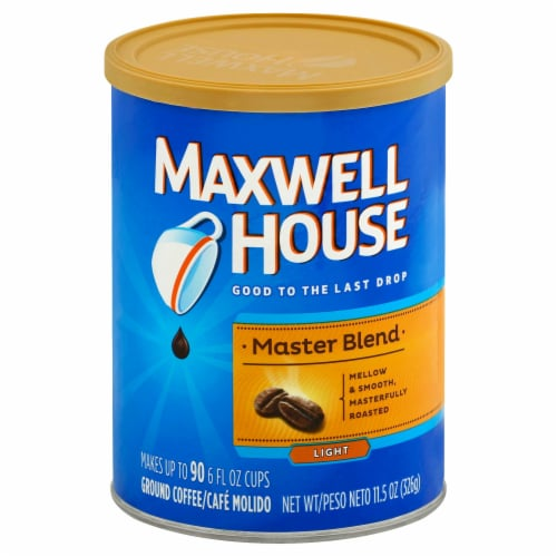 Maxwell House Master Blend Ground Coffee, 11.5 Ounce -- 6 per case. Perspective: front