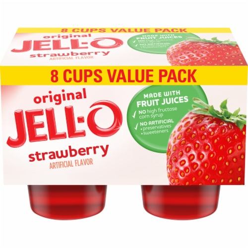 Jell-O Strawberry Gelatin Snacks Value Pack Perspective: front
