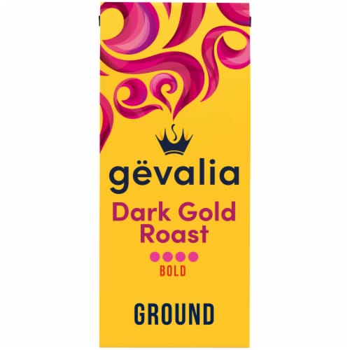 Gevalia Bold Dark Gold Roast Ground Coffee Perspective: front