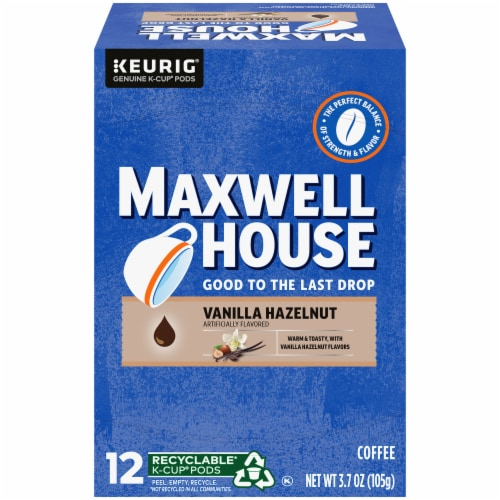 Maxwell House Vanilla Hazelnut Coffee K-Cup Pods Perspective: front