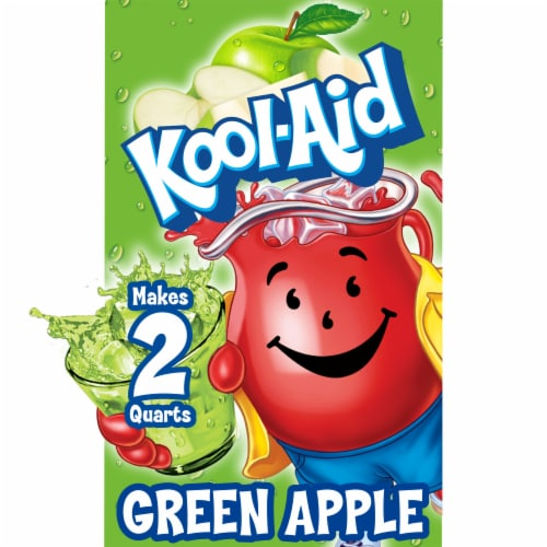 Kool-Aid Green Apple Unsweetened Drink Mix Perspective: front