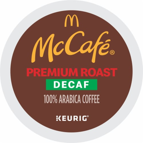 McCafe Decaf Premium Medium Roast Coffee K-Cup Pods Perspective: front