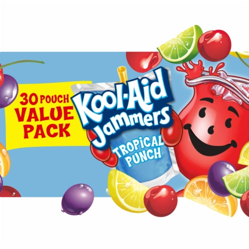 Kool-Aid Jammers Tropical Punch Flavored Drinks Perspective: front
