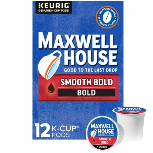 Maxwell House Smooth Bold Coffee K-Cup Pods Perspective: front
