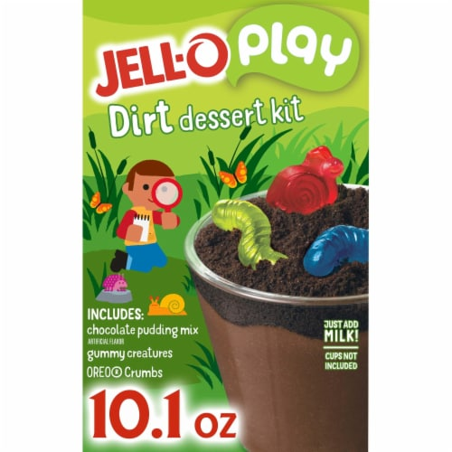 Jell-O Play Chocolate Dirt Dessert Kit Perspective: front