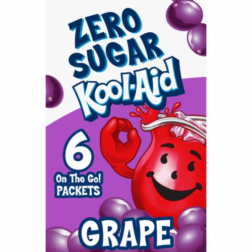 Kool-Aid On-The-Go Sugar-Free Grape Powdered Drink Packets Perspective: front