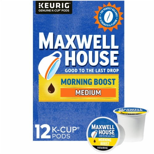 Maxwell House Morning Boost Medium Roast Coffee K-Cup Pods Perspective: front