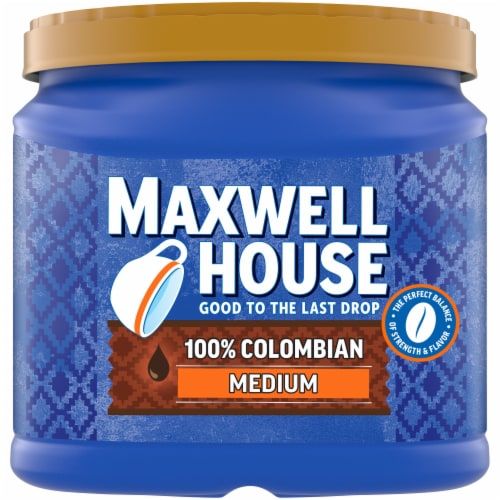 Maxwell House 100% Colombian Medium Roast Ground Coffee Perspective: front