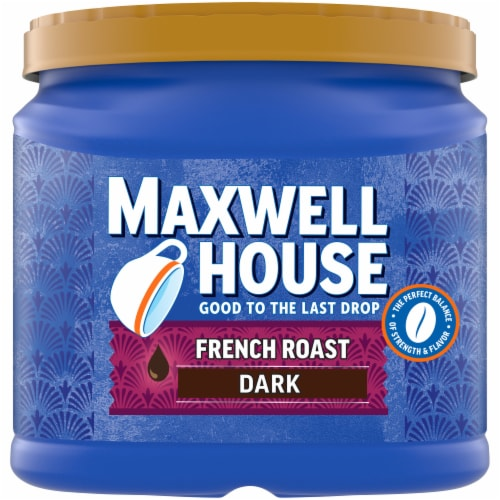 Maxwell House French Roast Dark Ground Coffee Perspective: front