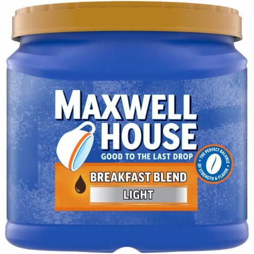 Maxwell House Breakfast Blend Light Roast Ground Coffee Perspective: front