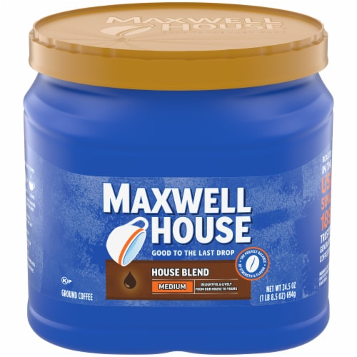 Maxwell House House Blend Medium Roast Ground Coffee Perspective: front